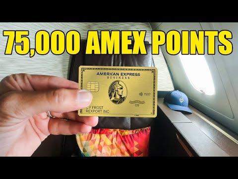AMEX BUSINESS GOLD CARD 75000 Bonus Points