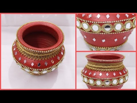How to Decorate Pot at home I Matki decoration I Indian Festival I Creative Diaries