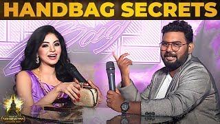 Sanam Shetty's Mini Handbag & Makeup Secrets Revealed By VJ Ashiq At Galatta Nakshatra Awards 2019