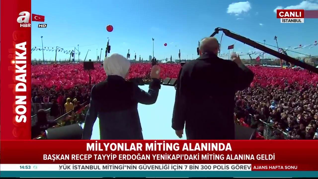 SON DAKİKA! Başkan Erdoğan, Yenikapı'daki miting alanına böyle geldi