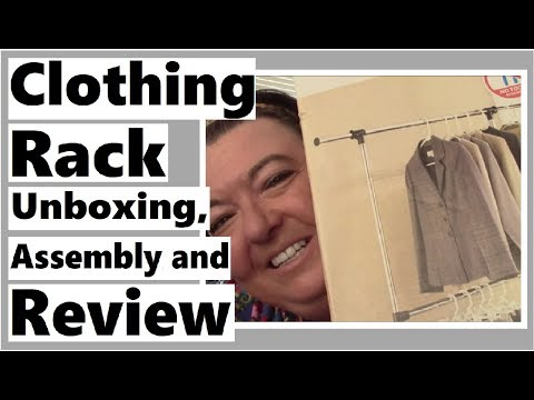 Clothing Rack Unboxing, Assembly and Review - DO LOVE!!!
