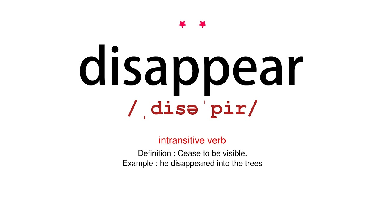 How to pronounce disappear - Vocab Today