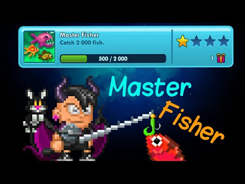 Completing Master Fisher Achievement | Pixel Worlds |