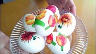 Украшение пасхальных яиц.