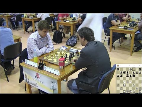 EXCITING BLITZ GAME!!! MAGNUS CARLSEN VS ALEXANDER MOROZEVICH - WORLD BLITZ CHESS CHAMPIONSHIP 2014