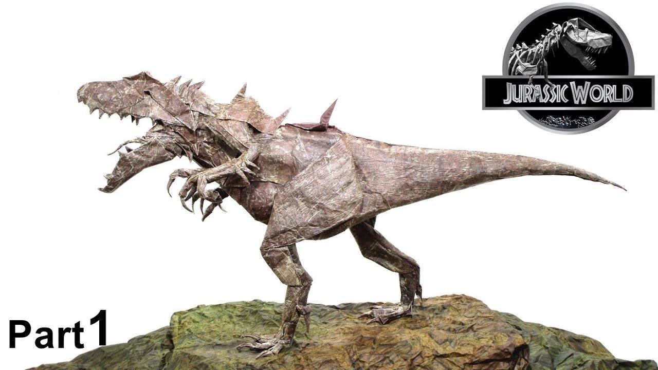 Origami Indominus Rex Tutorial Jason Ku Part 1 折り紙 インドミナス レックス 恐竜 Dinosaur Jurassic World
