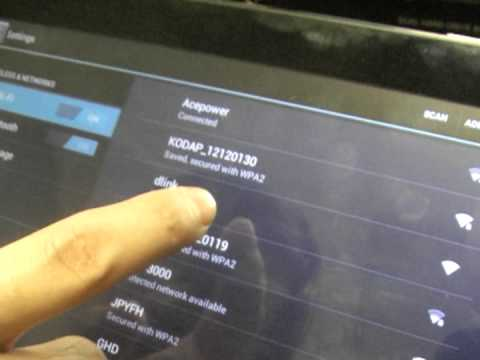 Using your Android Tablet with the Acesonic KOD-3000 Jukebox