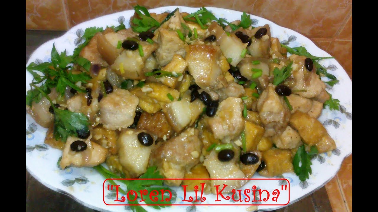 Pork Tofu With Black Beans - YouTube