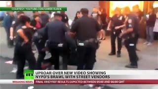 NYPD, Hispanic crowd brawl in New York
