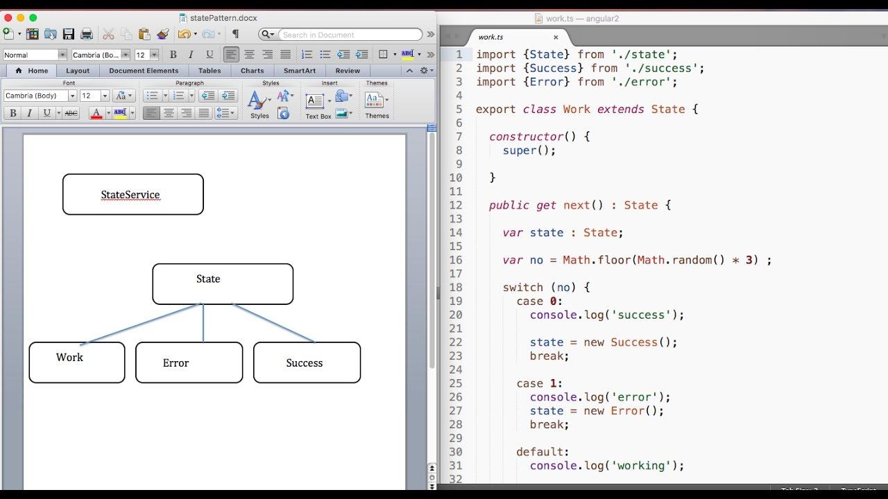 Angular 2 Oo State Design Pattern In 4 Min Youtube