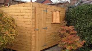 10 X 8 Pent Roof Garden Workshop Door Left Front 2