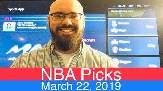 NBA Picks (3-22-19) | Basketball Sports Betting Expert Predictions Video | Vegas | March 22, 2019