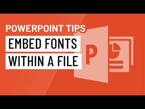 PowerPoint Quick Tip: Embed Fonts Within a File