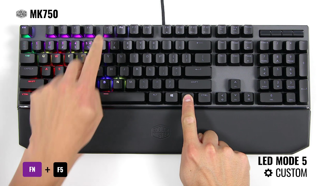 MK750 | How to Change LED Modes on Your Keyboard