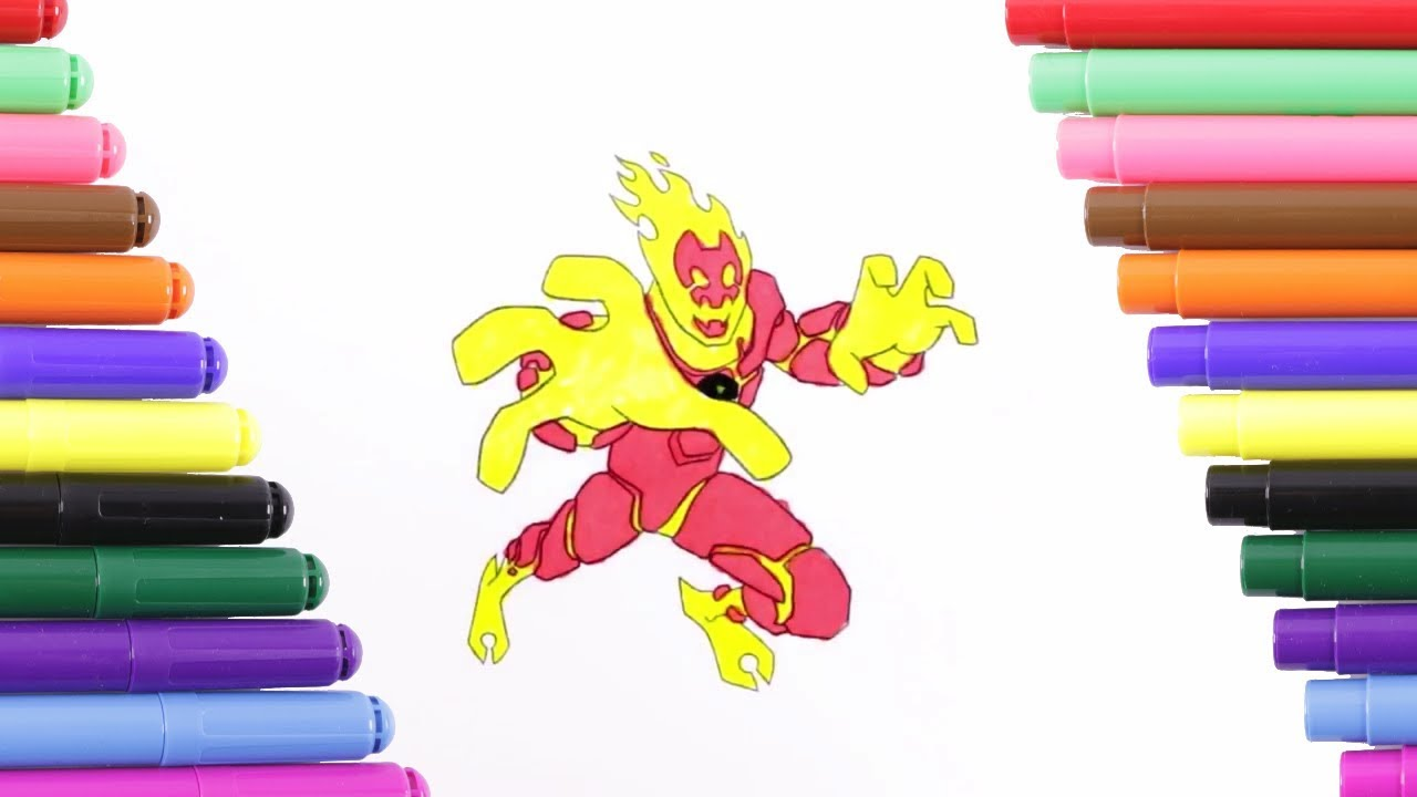 Ben 10 Heatblast Attack Coloring Page for Kids, Coloring ...