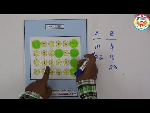 Make It Thirty One @ Math Game || Maths Project ||