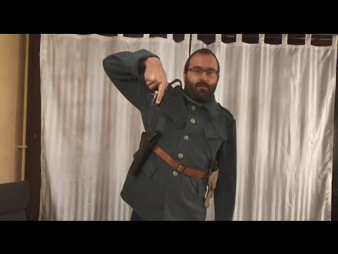 Why did the British and other Euro Armies typically wear holsters on