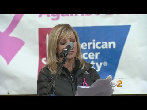 CBS2/KCAL9 Reporter Stacey Butler Emcees Breast Cancer 'Making Strides' Walk.