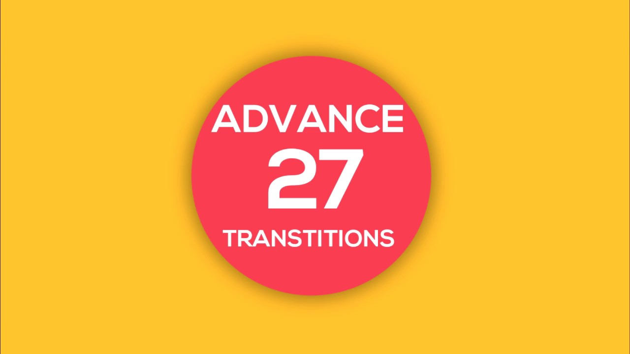 free template 27 advance transition flat after effect youtube