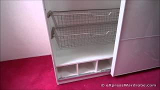 Kids Bedroom Storage - Ikea Pax Sliding Door Wardrobe, Shallow Depth Design