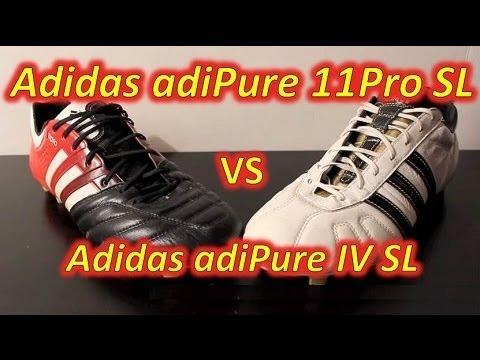 finest selection 720e2 416e9 Adidas adiPure 11Pro SL VS Adidas adiPure IV SL - Comparison - YouTube