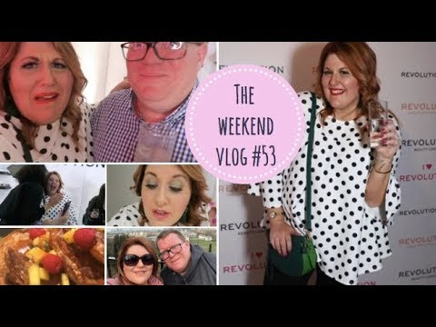 The Weekend Vlog #53  - MAKE UP REVOLUTION PARTY, GREENWICH & BLOGGER BRUNCHING
