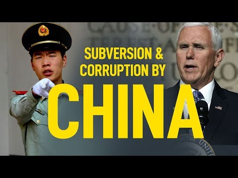 Chinese Subversion & Corruption of U.S.A is Deep and Far Reaching