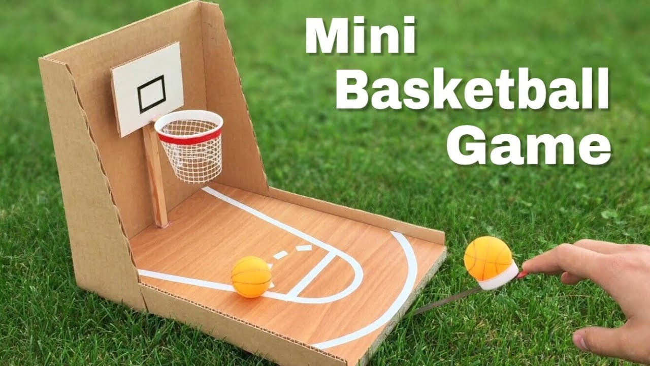How to make amazing diy basketball game at home out of cardboard how to make amazing diy basketball game at home out of cardboard easy to build solutioingenieria Images