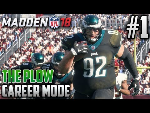 Madden 18 Career Mode | The Plow (HB) | EP1 | THE 7 FOOT TALL, 400 POUND POWER RB IS BACK