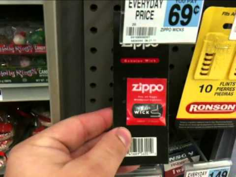 Rite-Aid (Pharmacy) Sells A Brushed Zippo For $12.99 + Flints & Wicks $0.69
