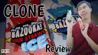 eliquid Review BAZOOKA SOUR STRAWS ICE Clone