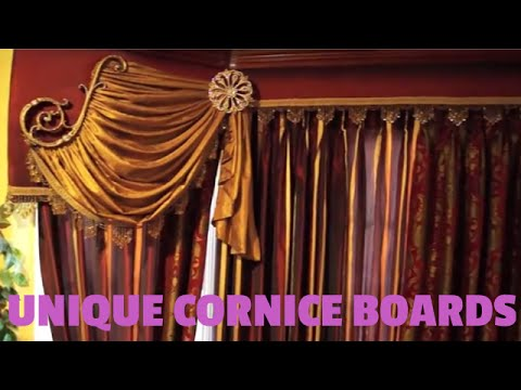Cornice Boards with Scrolls and Swags.  Unique Window Treatment Ideas | Galaxy-Design Video #100