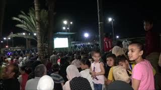 الالاف من ابناء الاسماغيلية يخرجون للاندية  والمقاهي لتشجيع المنتخب المصري