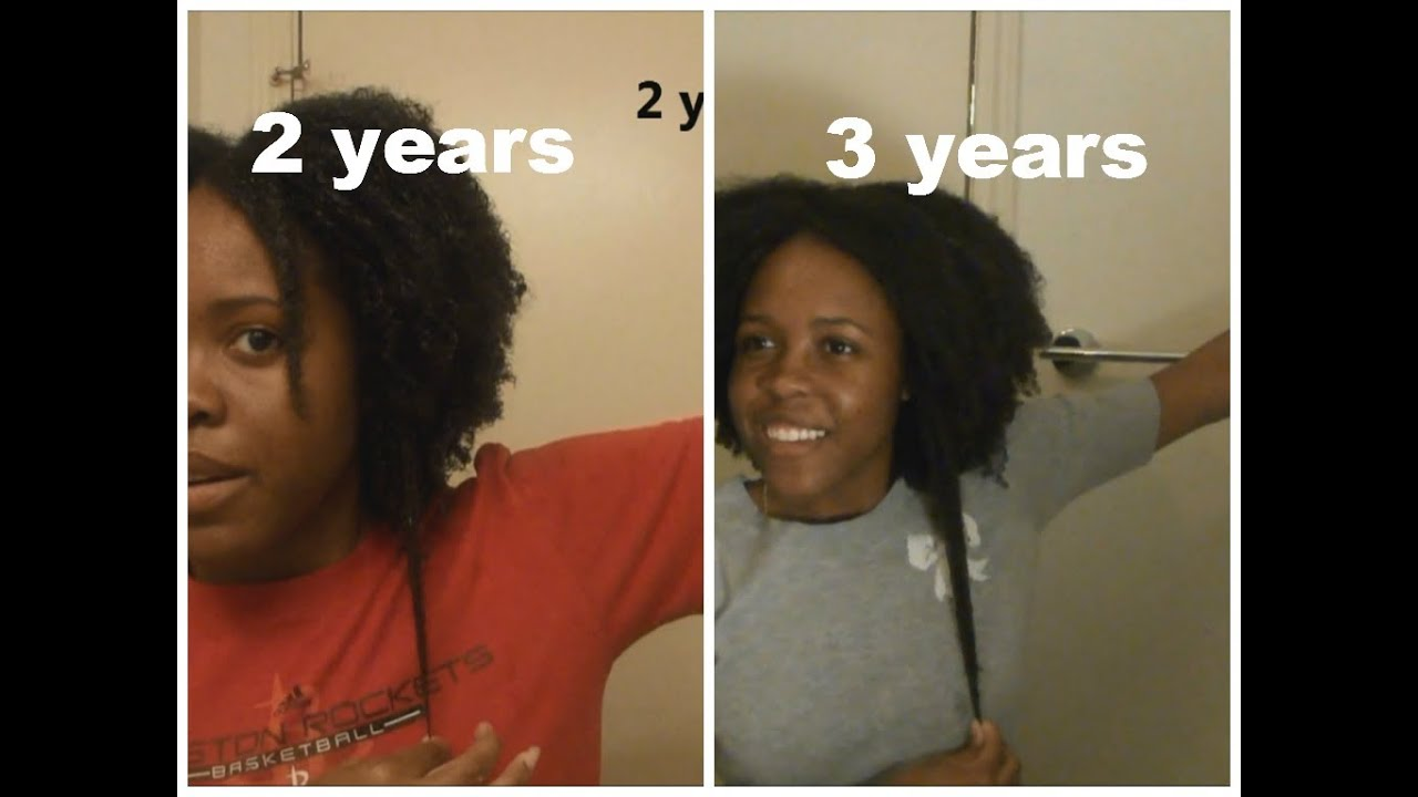 Natural Hair Growth Length Check 3 Years YouTube