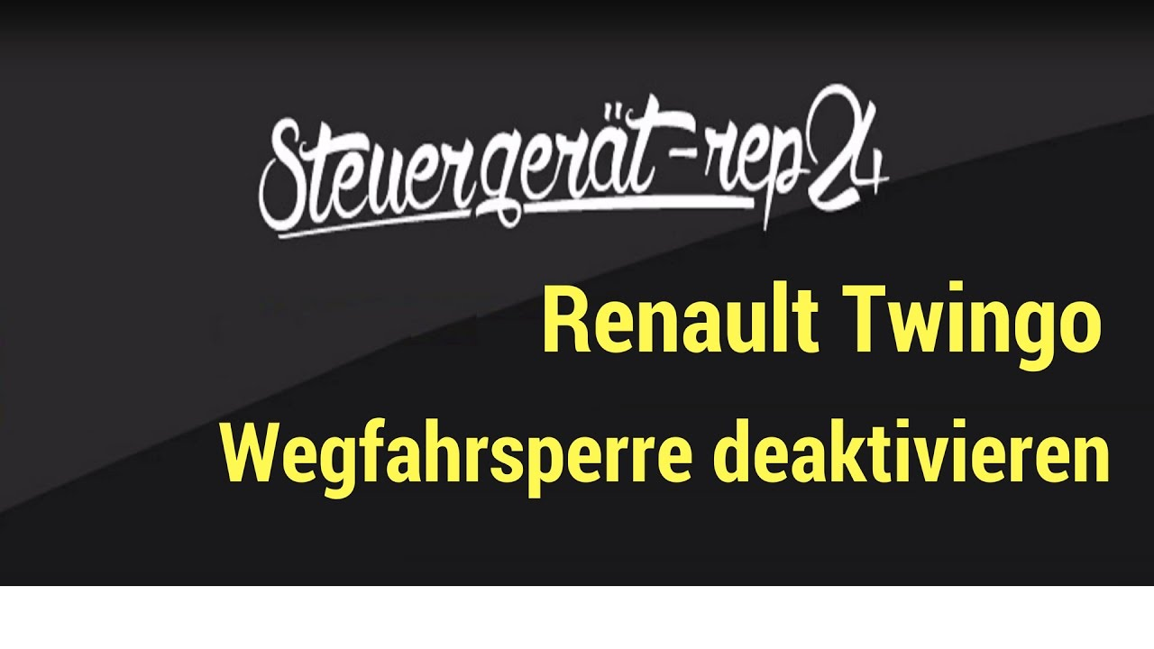 renault twingo wegfahrsperre deaktivieren youtube. Black Bedroom Furniture Sets. Home Design Ideas