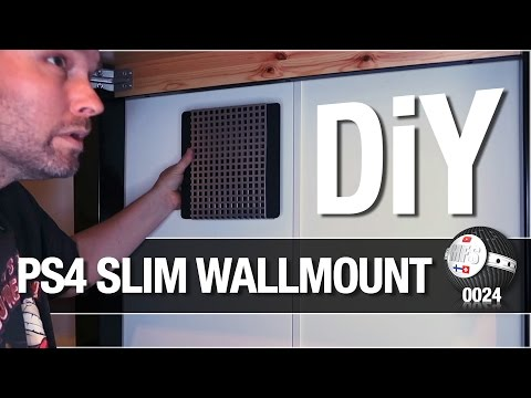 DIY PS4 Slim wall mount