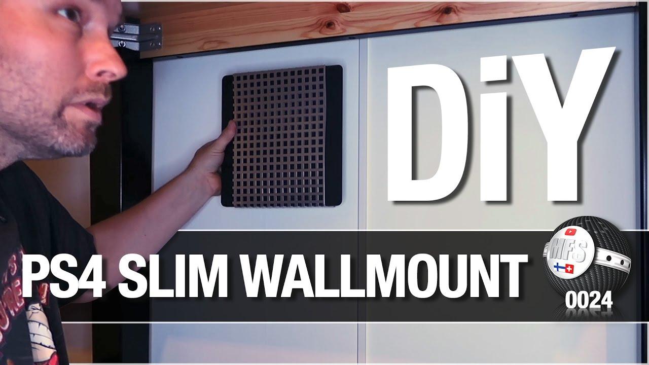 Diy Ps4 Slim Wall Mount Youtube
