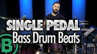 Heavy Metal Drum Beats - Single Pedal - Drum Lessons(FREE Series: The Top 3 Bass Drum Techniques - http://bit.ly/OvzisC . In this video, Sean Lang teaches some heavy metal drum beats that work well if you only ..., 2012-01-31T16:25:52.000Z)