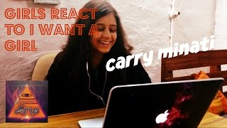 kratika reacts to carry minati i want a girl must watch reaction