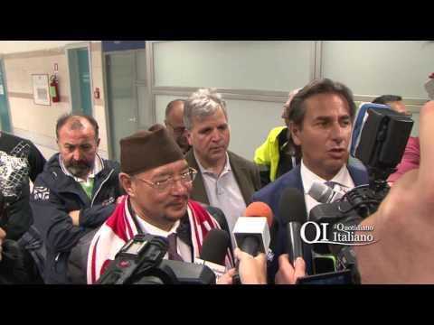 Arrivo a Bari del petroliere Dató Noordin Ahmad