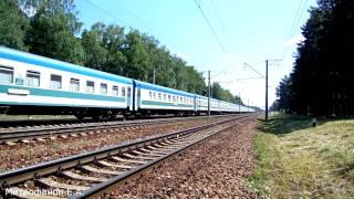Электровоз ЧС2К-913 (ТЧЭ-6) - бабына жылдамдық поезд ''Өзбекстан'' n 005Ф, Ташкент - Мәскеу.