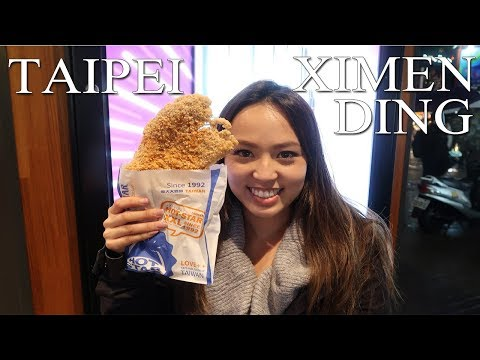 Taipei Taiwan Vlog 1 Exploring Ximen Area and food !