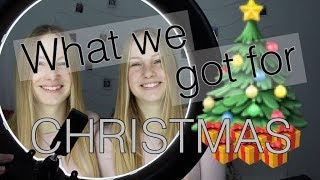 What we got for CHRISTMAS! Last Video in 2017 I Finja and Svea