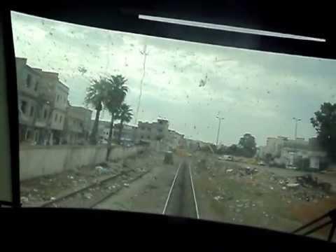 AGL 14 pendant une voyage de jdeida a la gare de tunis + gares + tunnel + cabine de conduite