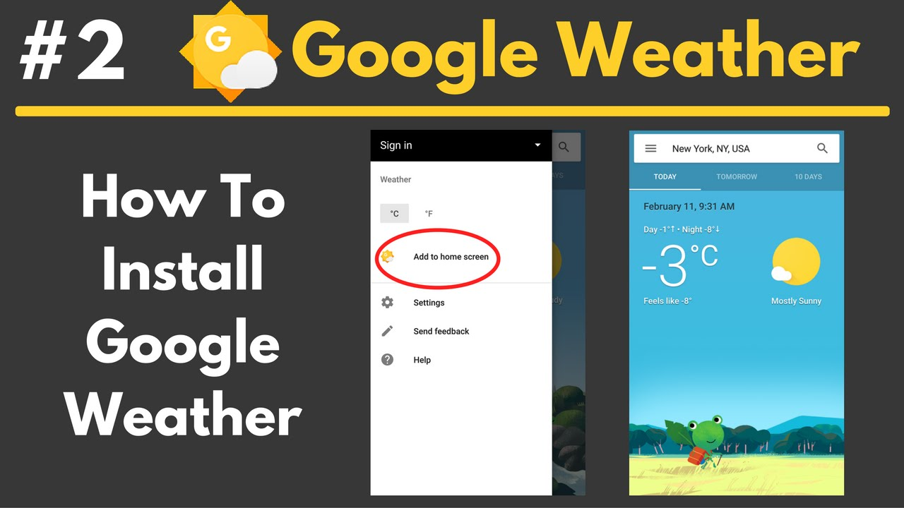 How To Add Google Weather Shortcut to Homescreen