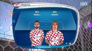 Croatia line-up v Portugal: UEFA EURO 2016