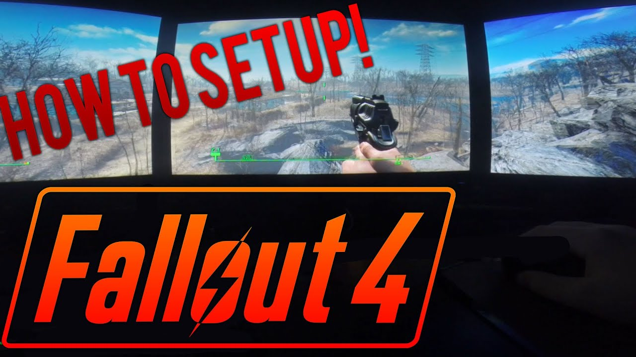 How to Setup Surround or Eyefinity on Fallout 4 (Triple Monitors)