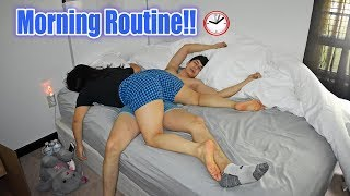 Our Morning Routine As A Couple!! Jehiely N Alex