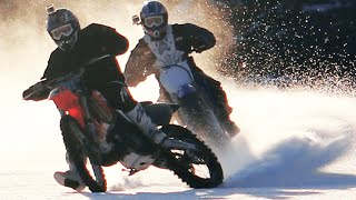 ULTIMATE Honda / Yamaha motocross ice drifting