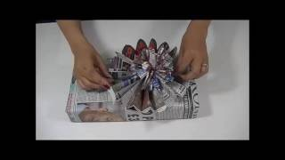 Newspaper Gift Wrapping Styles Recycled Newspaper Gift Wrapping